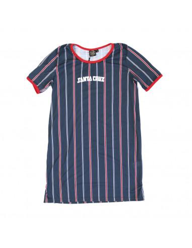 Santa Cruz Dress Stripe Print